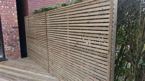 Fence Screening Panels Slatted Screen Fencing Pride Home Services