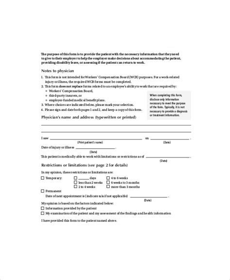 Release Letter To Attend doctors note template 6 free word pdf documents