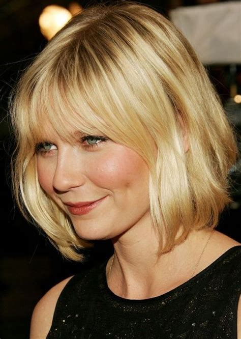 blonde bob hair with fringe short twisted haircuts style of celebrities