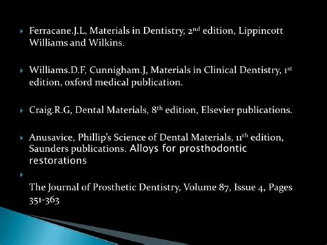 Cd E Book The Journal Of Prosthetic Dentistry solidification and microstructure of metals