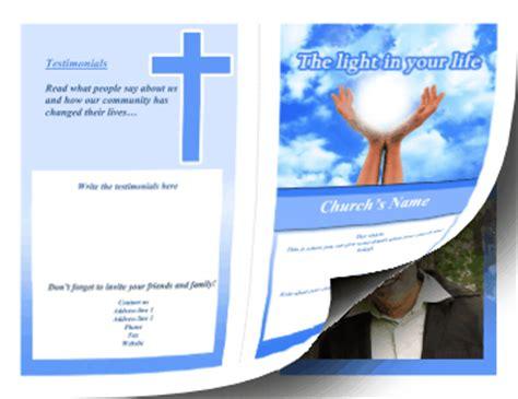 printable church brochure bifold