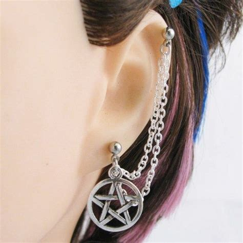 earring that connects to cartilage 217 best images about penticales on occult the goddess and wiccan