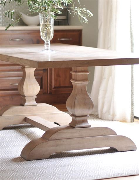 dining room table trestle legs trestle table arrival centsational