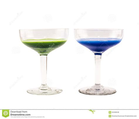 composition and green colored cocktails on a