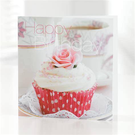 Birthday Card Cupcake Happy Birthday Cupcake Greetings Card
