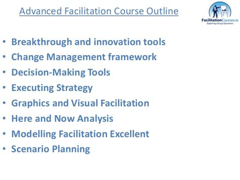 Facilitation Skills Course Outline by Facilitation By Kono Consultancy