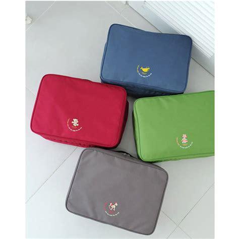 Hs Tas Travel Bag In Bag Organizer Pakaian Polyester tas travel bag in bag organizer pakaian polyester blue