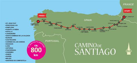 camino de santiago route map mein jakobsweg jakobsweg 2006 way of st 2006