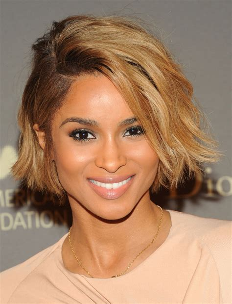 hairstyles for chin length relaxed hair check out ciara rocking a sexy chin length bob haircut