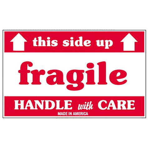 shipping label this side up 3 quot x 5 quot fragile this side up labels 500 labels per roll