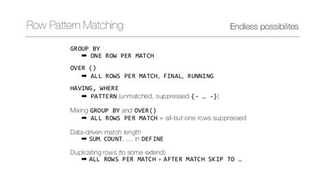 pattern matching non greedy row pattern matching in sql 2016