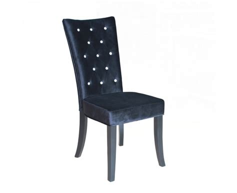 black velvet dining chairs radiance black velvet dining chair with diamantes