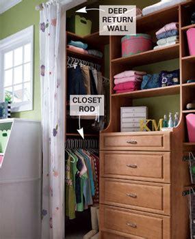 Perpendicular Closet Rod by For Closets Deeper Than 24 Quot Run The Closet Rod
