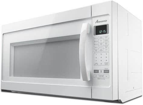 microwave with vent fan amana amv6502rew 2 0 cu ft over the range 1 000
