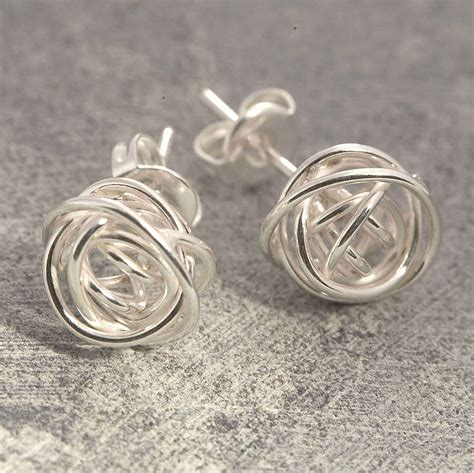 Sterling Silver Studs nest stud sterling silver earrings by otis jaxon silver