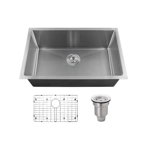 Mr Direct Kitchen Sinks Reviews Mr Direct All In One Undermount Stainless Steel 17 88 In Single Bowl Kitchen Sink 2920s 16 Ens