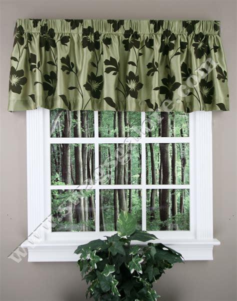 Brown Valance Curtains Garden Blossom Tailored Valance Green Brown Lush Decor Kitchen Valances