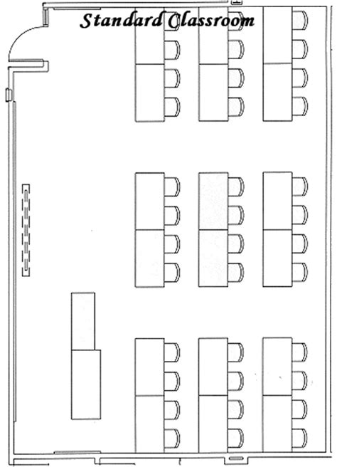 classroom layout dimensions standard classroom niu college of business