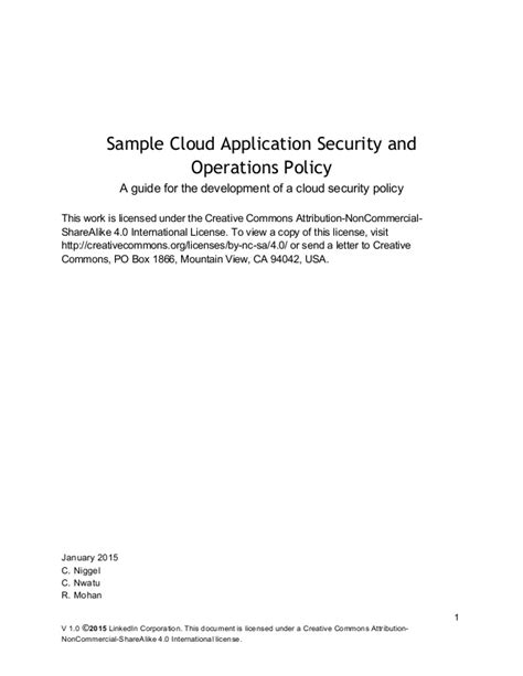 Release Letter For New Sle Cloud Application Security And Operations Policy Release
