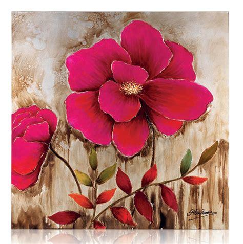 quadri ottaviani fiori 250078 quadro su tela flower 100x100 ottaviani home