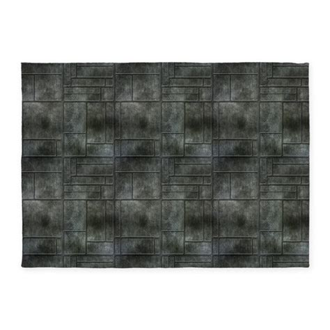 industrial mats rugs industrial grey metal 5 x7 area rug by manchesterandbedding
