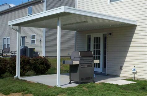 metal porch awning aluminum awnings under decking nc sc