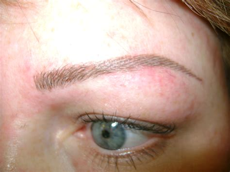 tattooing eyebrows eyebrow before and after