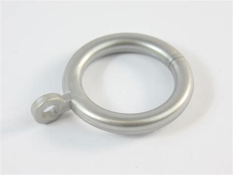 silver curtain rings 12 x silver plastic curtain rings 19mm pole new ebay