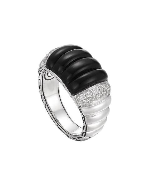 Batu Black Onyx 1 hardy small pav 233 onyx batu bedeg ring in black lyst