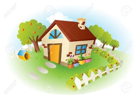 14 cartoon house vector images cartoon house garden cottage garden clipart 19
