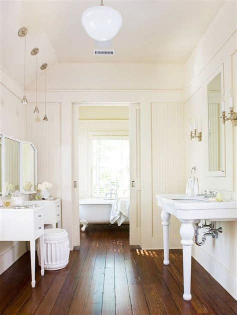 beadboard flooring bathroom remodel design renovation inspiration vanity sink