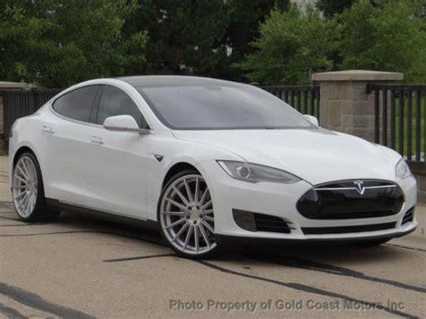 Tesla P85 Msrp 2012 Tesla Model S P85 White On Black 22 Quot Wheels 1 Owner