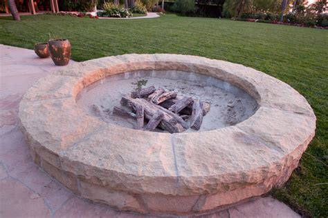 Built In Firepit Backyard Pits And Fireplaces In Santa Barbara