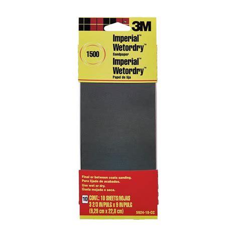 3m imperial wetordry 3 2 3 in x 9 in 1500 grit sandpaper