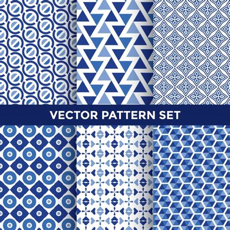 photoshop pattern freepik blue pattern set vector free download