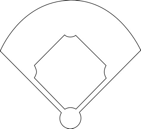 baseball field template baseball template printable clipart best
