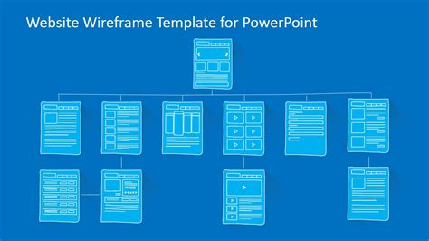 Website Sitemap Powerpoint Template Slidemodel Free Website Wireframe Templates