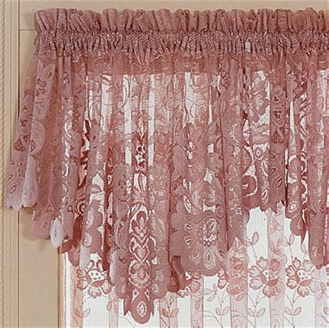 jcpenney priscilla curtains jcp home shari lace rod pocket ascot valance jcpenney
