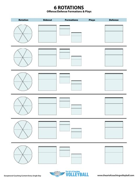 printable volleyball worksheets 6 rotations worksheet