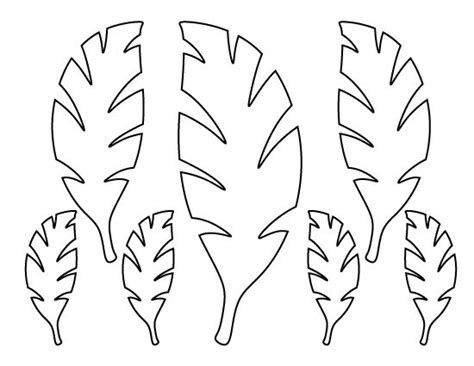 Palm Tree Leaves Outline by Palm Leaf Pattern Use The Printable Outline For Crafts Creating Stencils Scrapbooking And