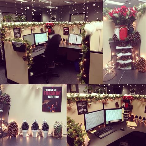 winter decorations for office my cubicle decorated for gonna to do something like this next year holidays