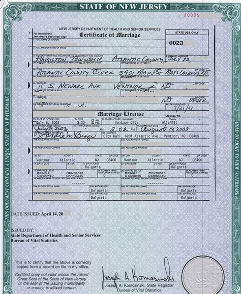 How To Obtain Marriage Records New Jersey Vital Records How To Obtain Marriage Html Autos Weblog
