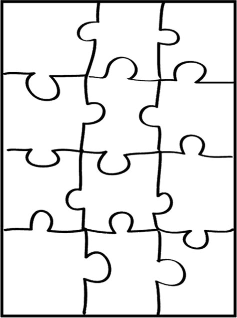 4 best images of puzzle pieces coloring pages printable