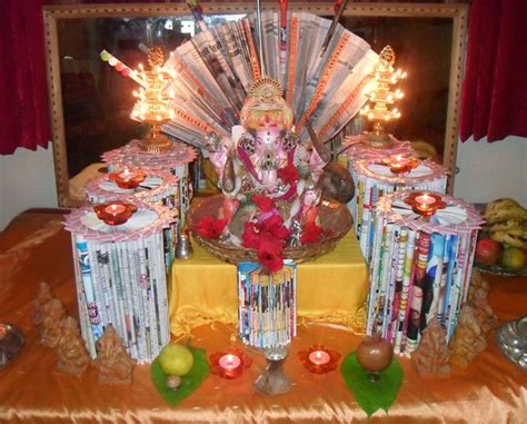 flower decoration ideas home ganpati decoration ideas for home the royale