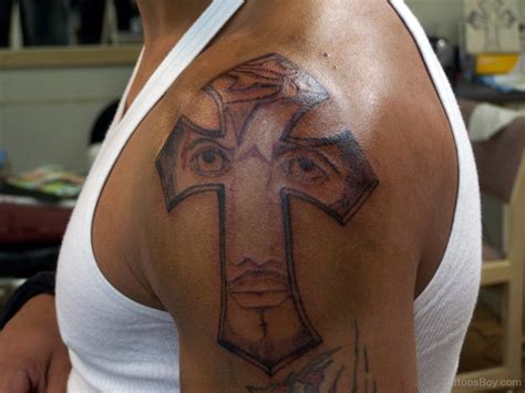 shoulder tattoo cross cross tattoos designs pictures