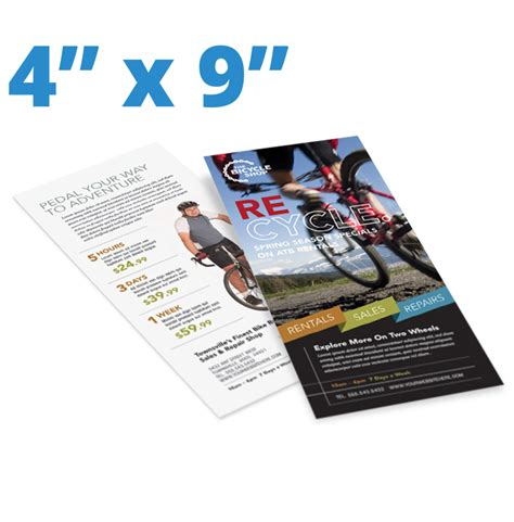 Template For 4 X 9 Rack Card by 4 X 9 Rack Cards Postcards San Antonio Tx La Luz