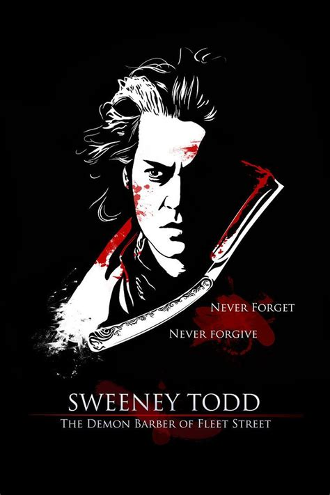 sweeney todd poster by angela t tim burton tattoo ideas