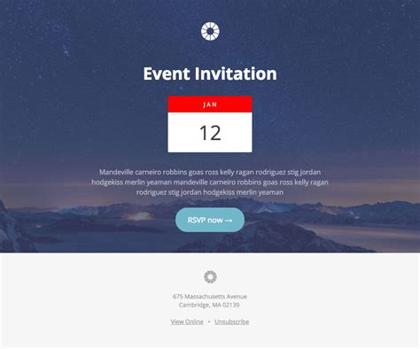 Pook Event Invitation A Free Mautic Email Template Innotiom Mautic Email Templates