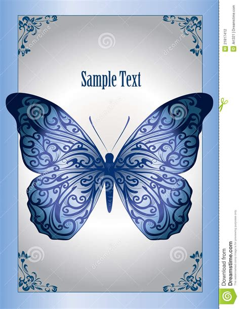 blue lace butterfly stock photography image 21817412
