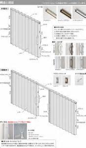 Curtain Shop アコーディオンカーテン タチカワ 構造と部品 インテリアショップライト